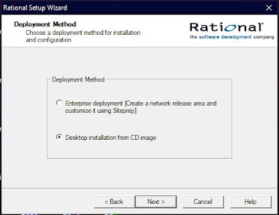 Deployment Method Rational Setup Wizard