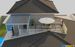 rumah mewah minimalis dengan rooftop
