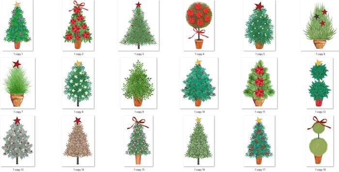 18 Christmas Trees PNG Pack