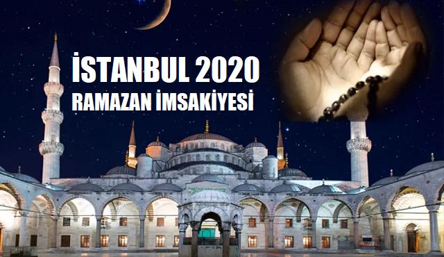 İstanbul 2020 Ramazan İmsakiyesi, İftar, İmsak ve Sahur Saatleri