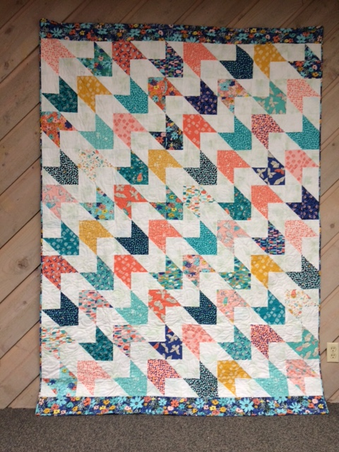 Snowbirds Quilt designed by Anne Wiens of Seams Like a Plan for Moda bake shop