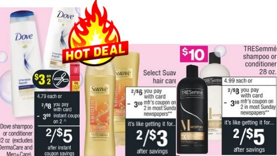 free shampoo cvs deals