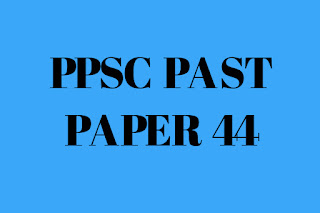 PPSC PAST PAPERS 2020