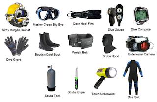Alat perlengkapan selam serta fungsi