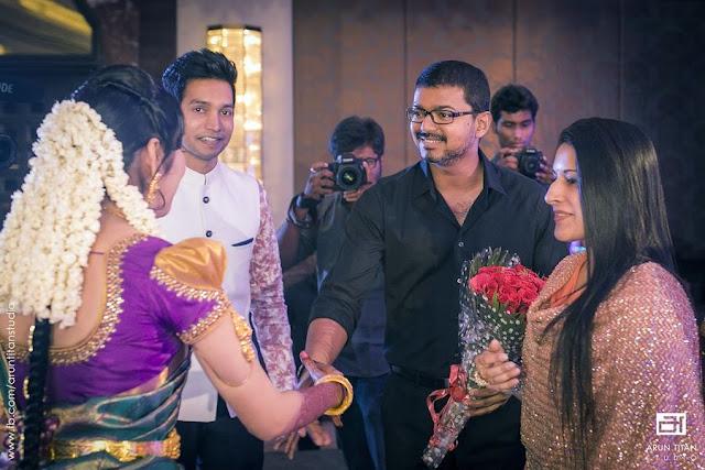 Vijay Attends Jothiram Pavithra Engagement Stills