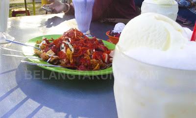 Pasembur dan Coconut Shake Padang Brown