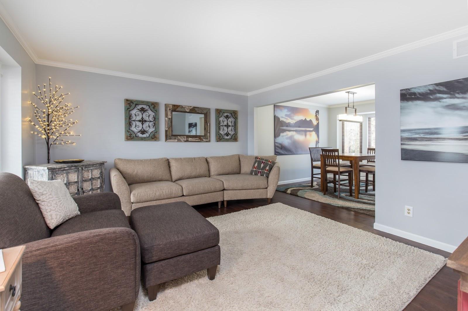 living room real estate photographer Northville, Ann Arbor, Canton, Novi, Wayne