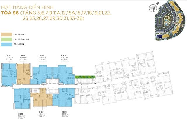 Giá bán thiết kế dự án chung cư Sunshine City khu đô thị Ciputra Hà Nội