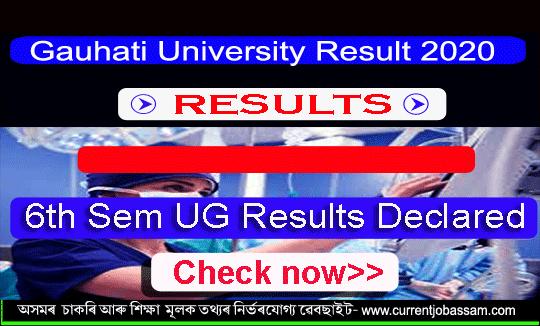 Gauhati University Result 2020 : 6th Sem UG Results Declared