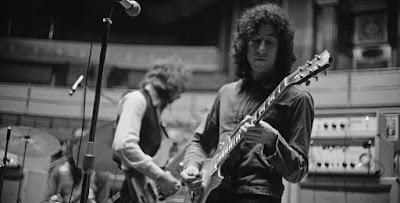 Ο Peter Green και ο μπασίστας των Fleetwood Mac, John McVie, προβάρουν στο Royal Albert Hall, Λονδίνο, 22 Απριλίου 1969