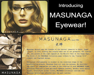 MASUNAGA Eyewear Now Here!