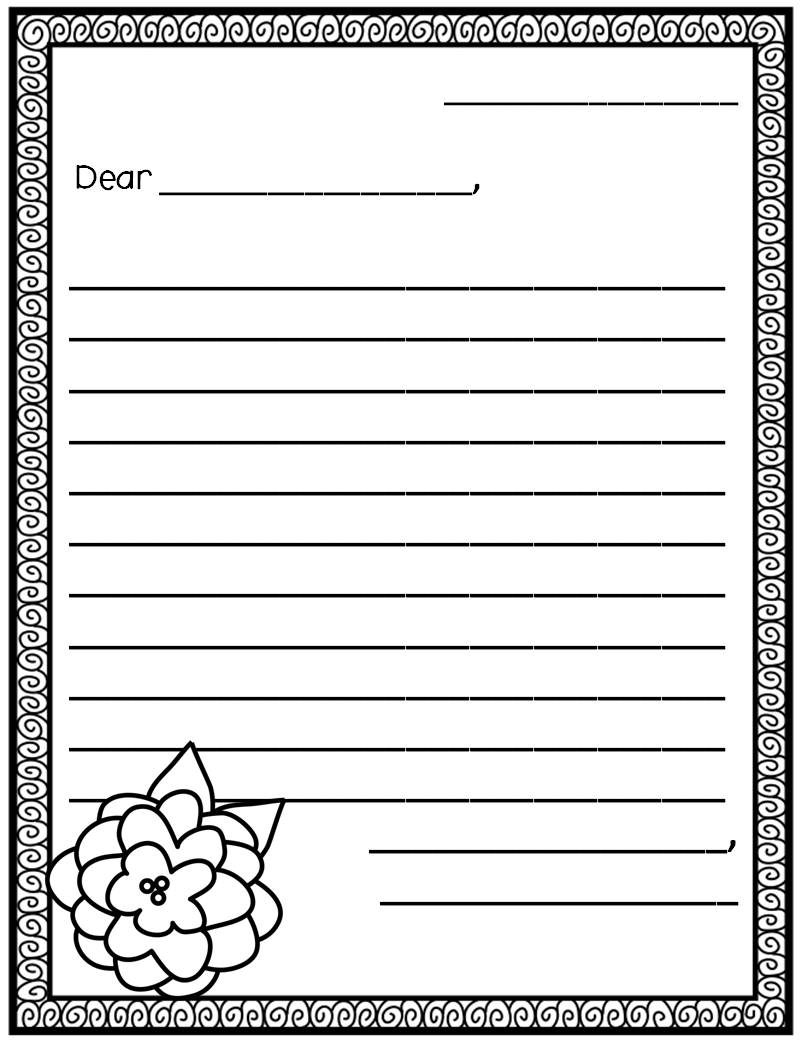 It's just a photo of Letter Template for Kids throughout border
