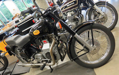 Royal Enfield motorcycle with diesel motor.