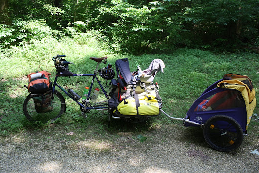 Family Bike Touring with Three Kids 6 & Under