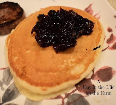 Pancakes with Tart Cherry Preserves