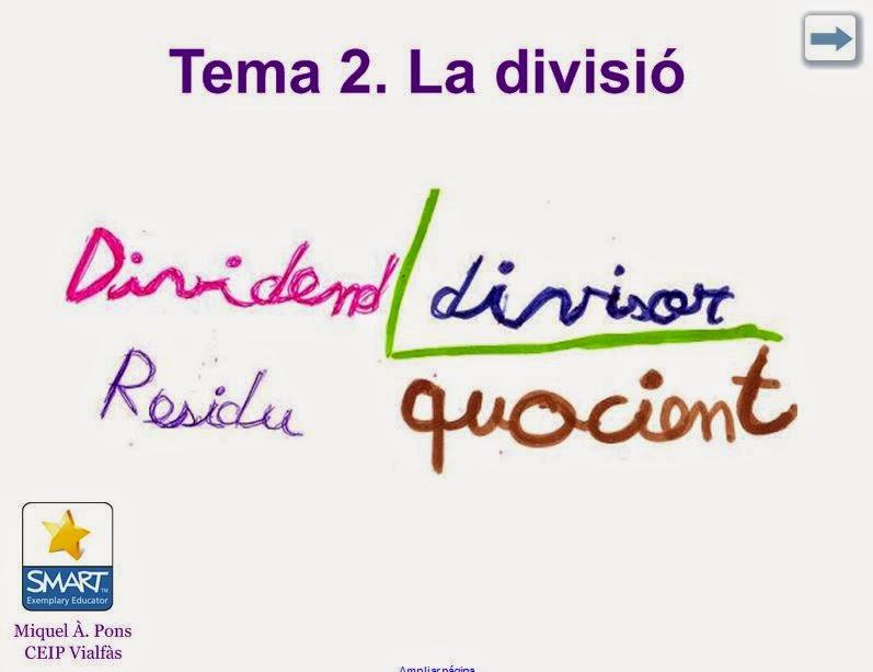Tema 2. Matemàtiques. La divisió