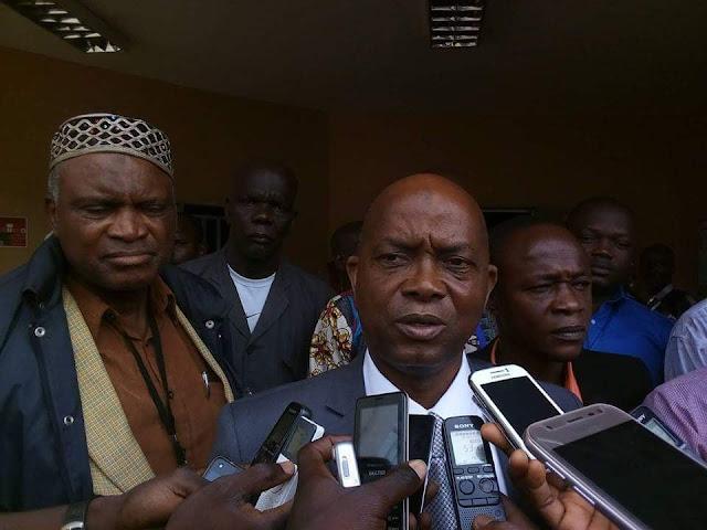 ''Syndicat libre des enseignants et chercheurs de Guinée'' à sa tête le secrétaire général Aboubacar Soumah