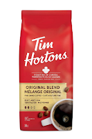Tim Hortons Original Coffee, Fine Grind Bag, Medium Roast, 300g