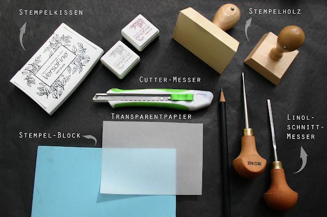 Materialien zum Stempeln