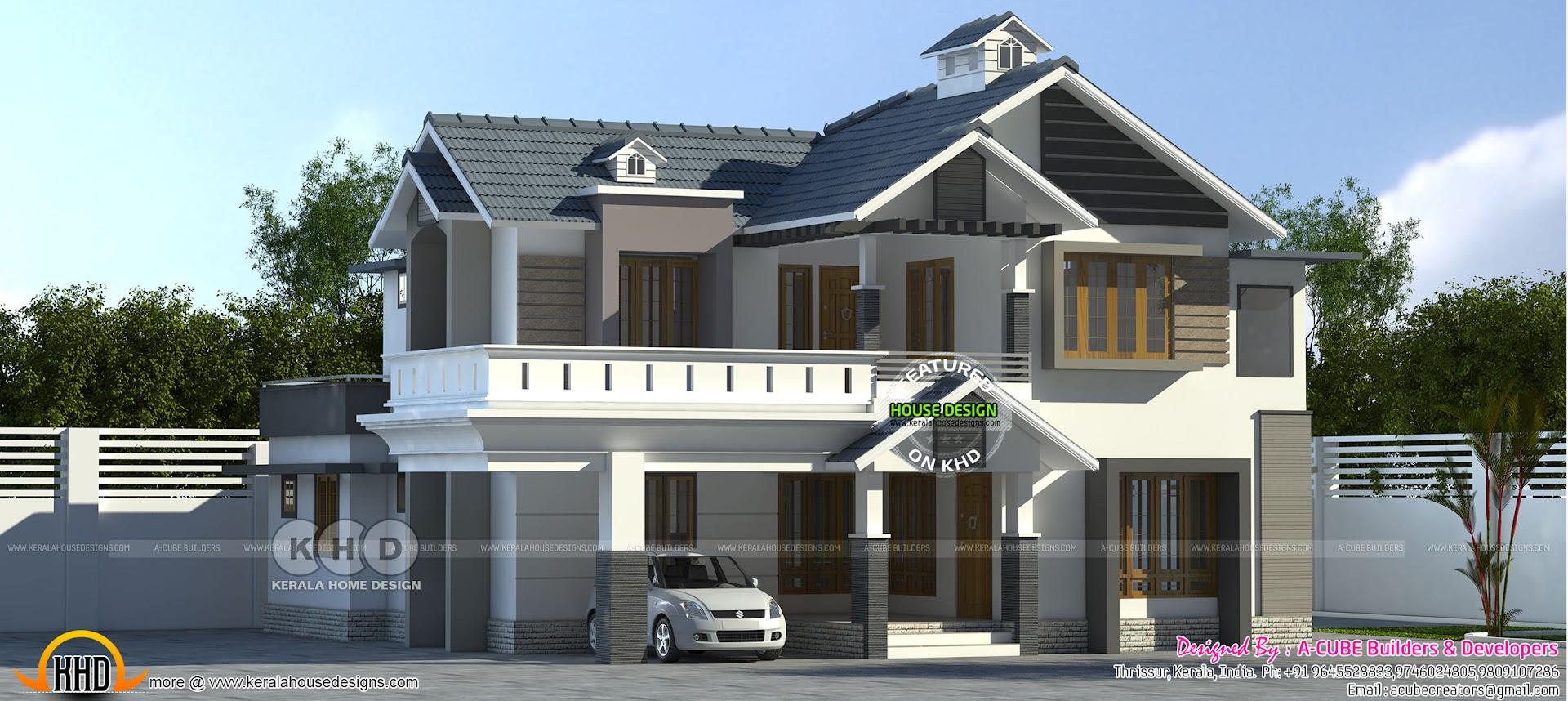 2361 Sq Ft Modern House 4 Bedroom Kerala Home Design Bloglovin