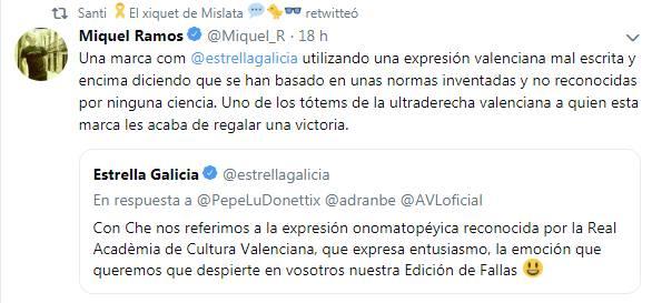 """Un pardalot en espanyol expon que escriure valencià en normativa propia valenciana no es ciència, estará """"mal escrit"""" i ser d'ultradreta. Ni en els pijors ensomis."""