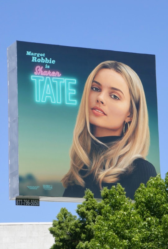Margot Robbie Once Upon Time Hollywood billboard