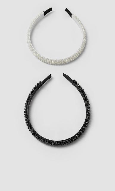 diademas cristales y perlas stradivarius