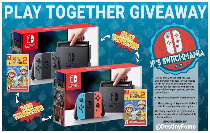 SORTEIO Ganhe Um Nintendo Switch