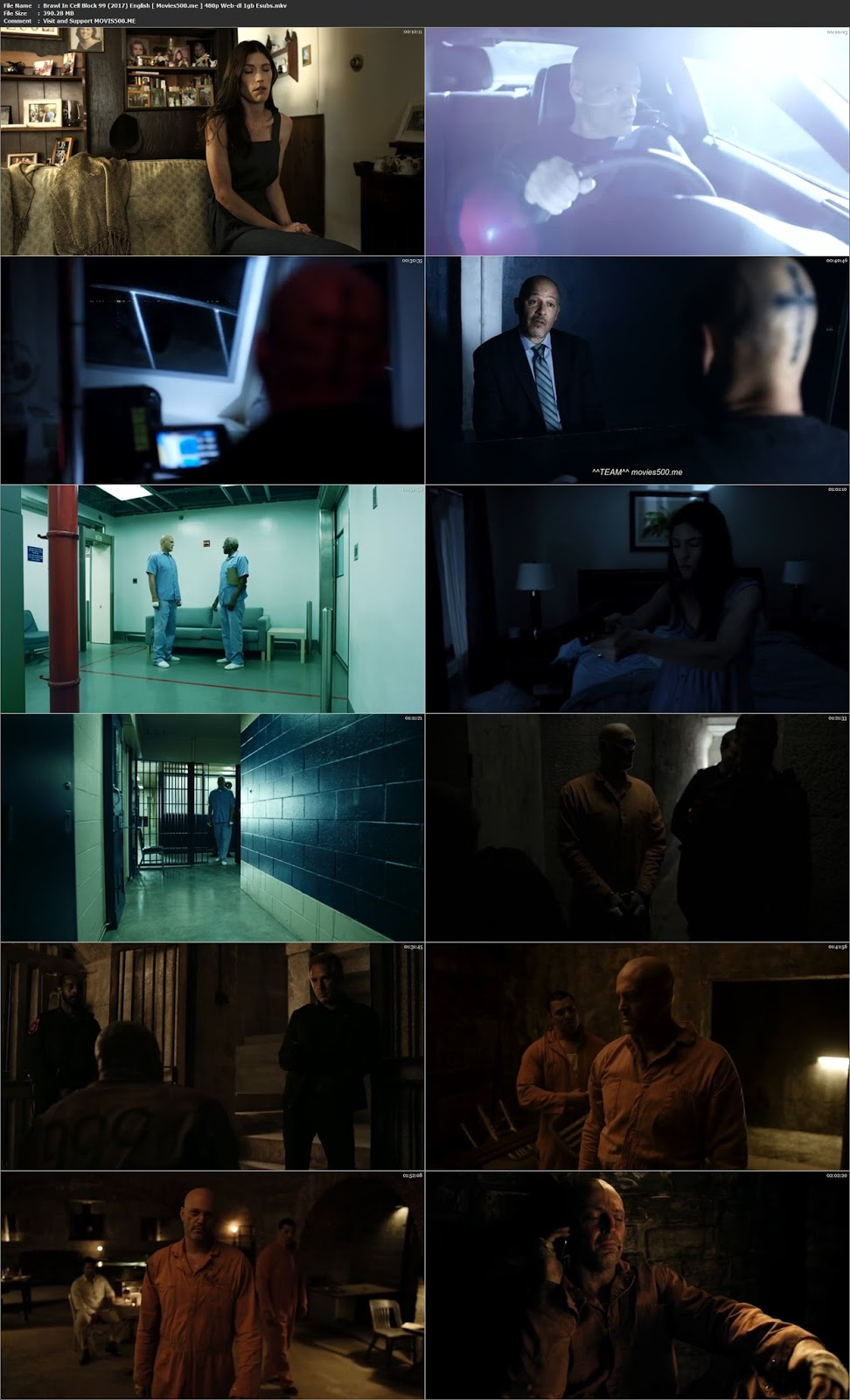Brawl in Cell Block 99 2017 Hollywood 390MB WEB DL 480p at movies500.site