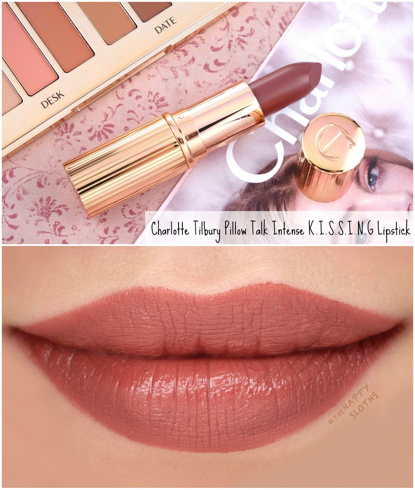 Charlotte Tilbury | Pillow Talk Intense Lipstick: Review and Swatches