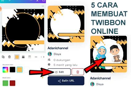 5 cara membuat twibbone online di hp
