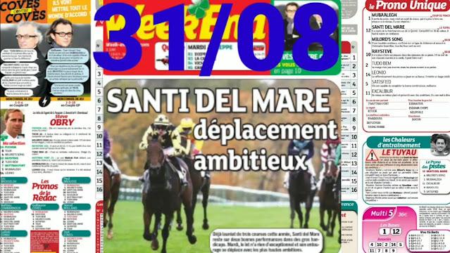 Pronostic quinté+ pmu Mardi Paris-Turf TV-100 % 31/08/2021