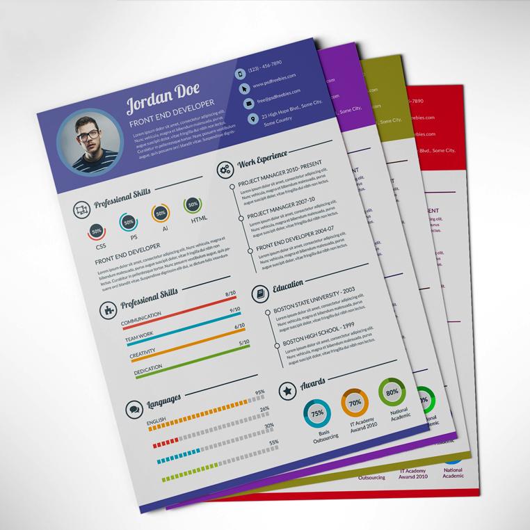designer briefcase  professional resume    cv template free psd