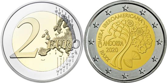 Andorra 2 euro 2020 - XXVII Ibero-American Summit