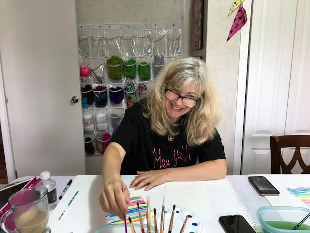 Alice Hendon, Watercolor Wonder with Artist Robin Mead - Artist Niki Green