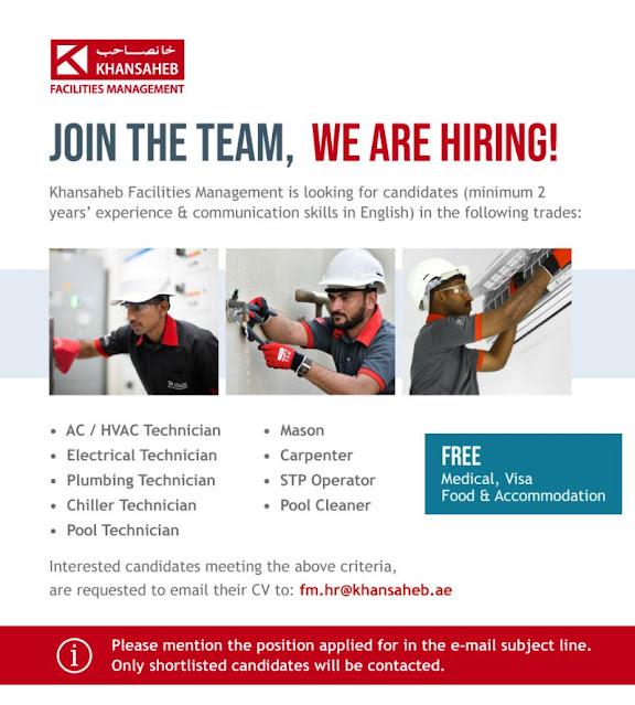 Khansaheb Facilities Management Company Jobs UAE