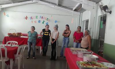 CRAS de Cajati  promove almoço especial de Páscoa