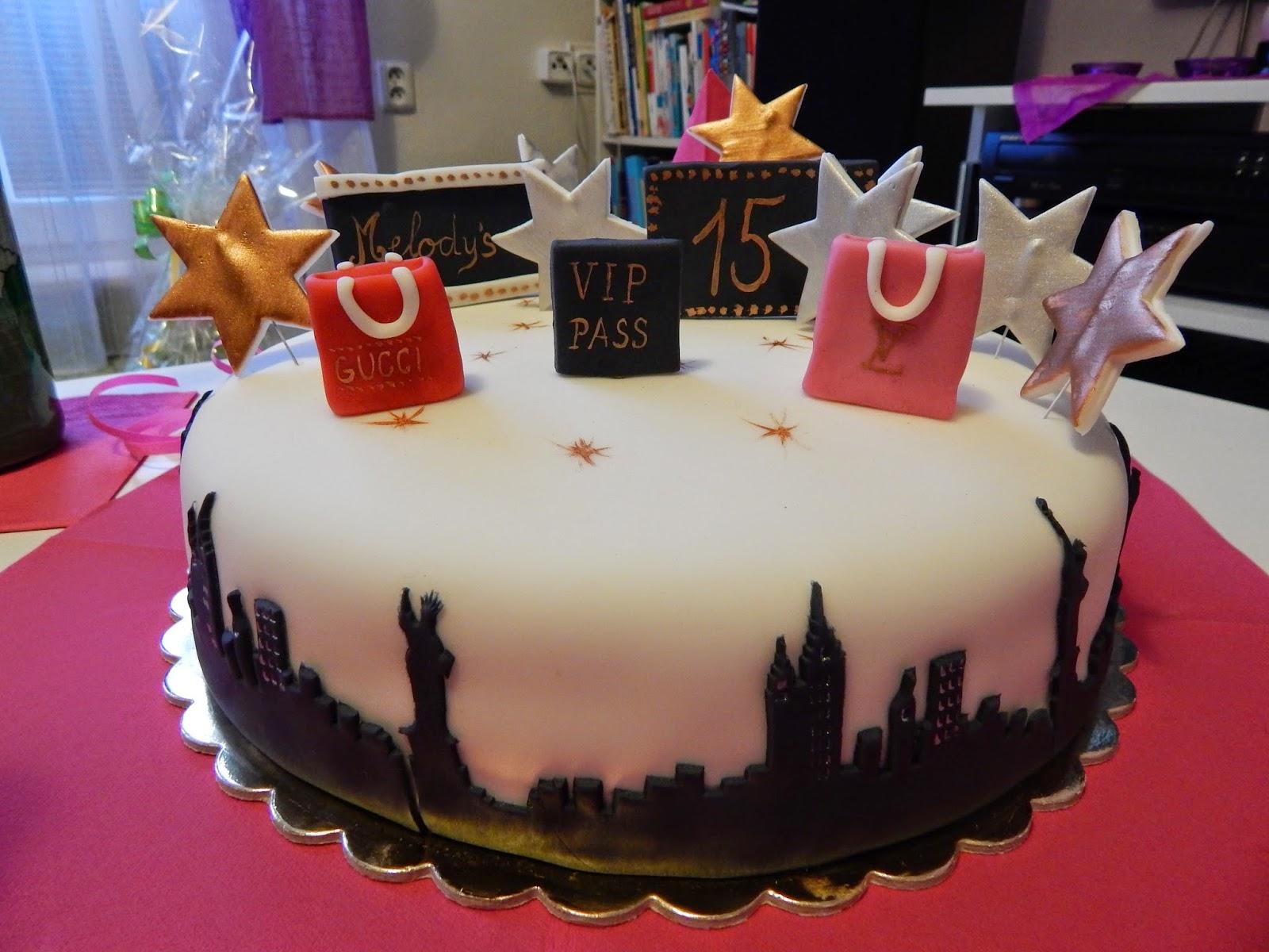 Narozeninový dort k 15. narozeninám
