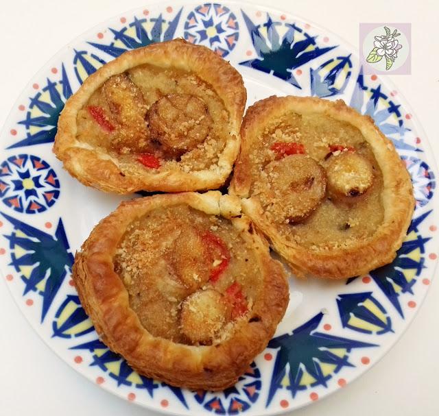 Vieiras veganas al horno, al estilo tradicional gallego.
