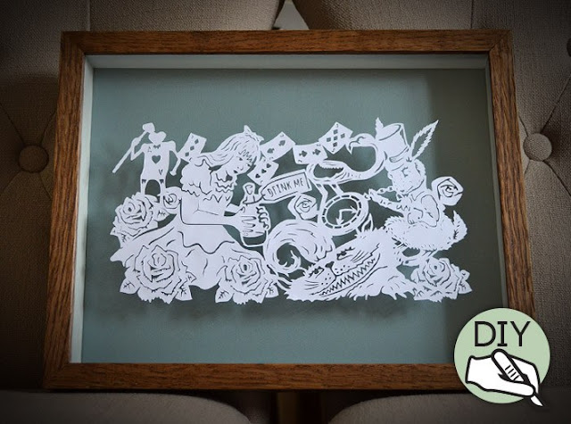 Alice in Wonderland Paper Cutting template