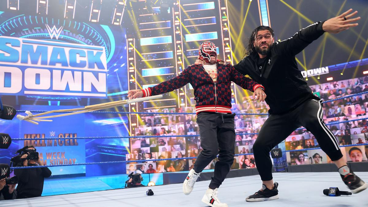 Roman Reigns and Rey Mysterio on WWE SmackDown