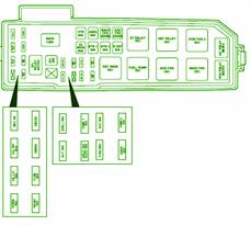 FORD Fuse Box Diagram: Fuse Box Ford 2001 Escape Under Hood Diagram