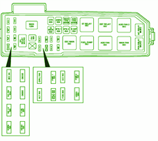ford fuse box diagram: fuse box ford 2001 escape under ... 2005 ford escape underhood fuse box diagram