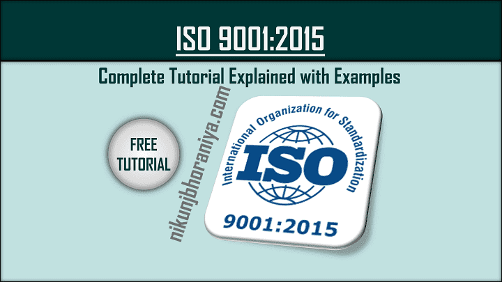 ISO 90012015 Standard  Quality Management System