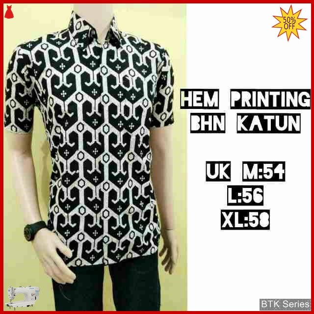 BTK138 Baju Hem Printing Monochrome Modis Murah BMGShop