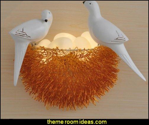 bird wall sconce Bird Nest Wall Lamp Bird Art Lamp Wall Lamp Sconce Bird Nest  wall light