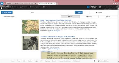 World Digital Library keresőfelület