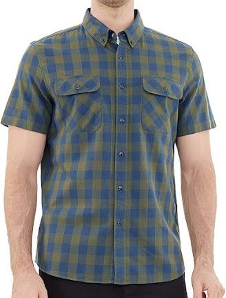 Men's Short Sleeve Plaid Flannel Shirts