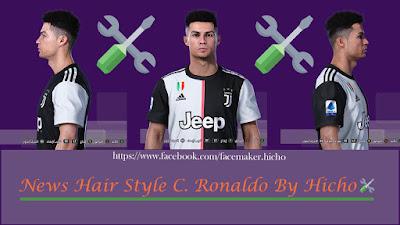 PES 2020 Faces Cristiano Ronaldo Nice by Hicho