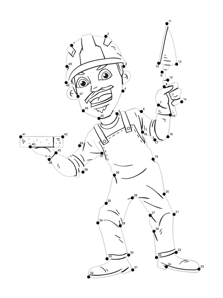 bricklayer line tracing worksheet
